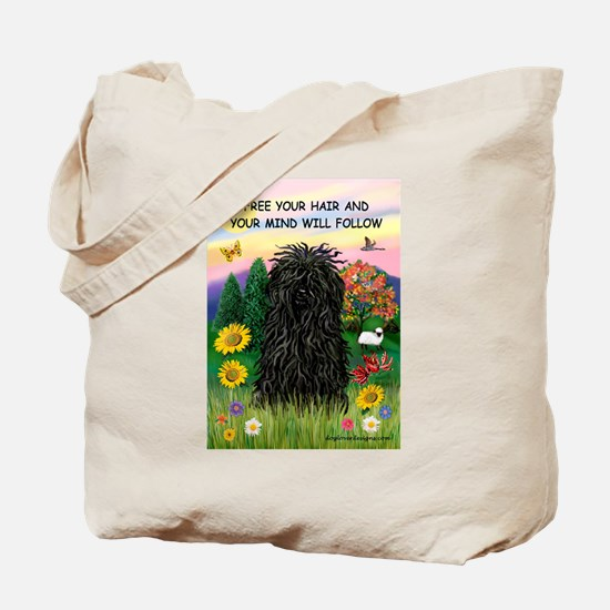 Free Your Hair.....Puli Tote Bag