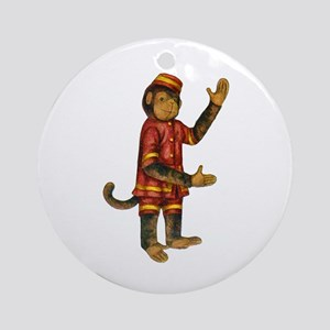 CURIOUS MONKEY Ornament (Round)