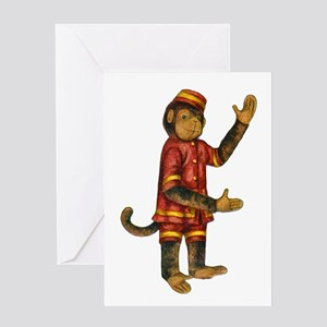 CURIOUS MONKEY Greeting Card