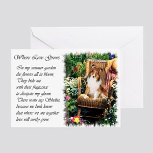Sheltie Art Gifts Greeting Card