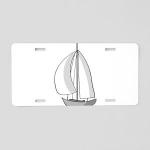 sailing Aluminum License Plate