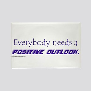 POSITIVE OUTLOOK Rectangle Magnet