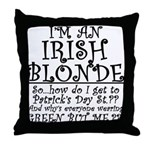 IRISH BLONDE Throw Pillow