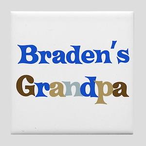 Braden's Grandpa  Tile Coaster