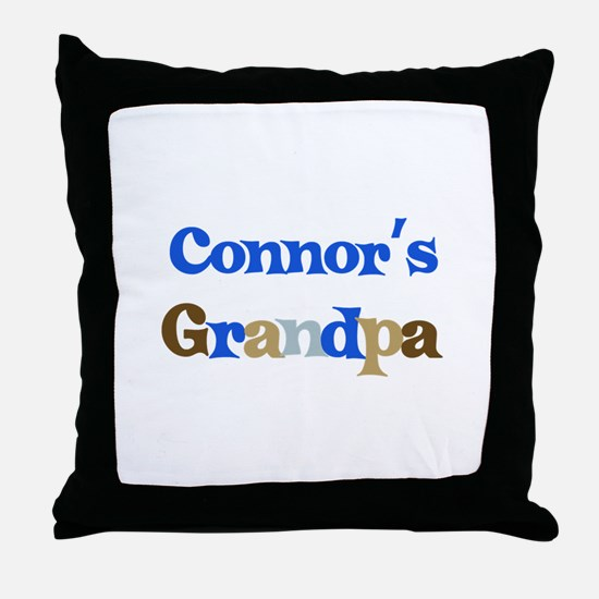 Connor's Grandpa  Throw Pillow