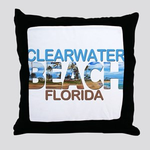 Summer clearwater- florida Throw Pillow