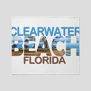 Summer clearwater- florida Throw Blanket
