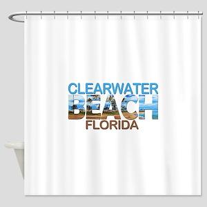 Summer clearwater- florida Shower Curtain