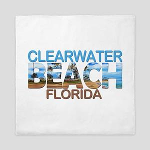 Summer clearwater- florida Queen Duvet