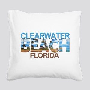 Summer clearwater- florida Square Canvas Pillow