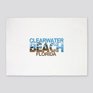 Summer clearwater- florida 5'x7'Area Rug