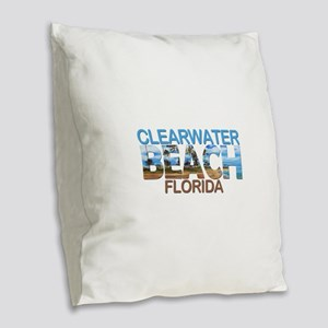 Summer clearwater- florida Burlap Throw Pillow