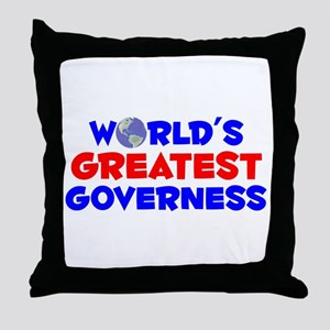 World's Greatest Gover.. (A) Throw Pillow