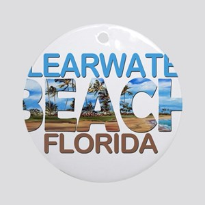 Summer clearwater- florida Round Ornament