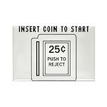 Insert Coin to Start Rectangle Magnet (10 pack)