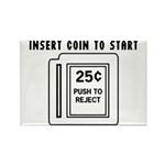Insert Coin to Start Rectangle Magnet (100 pack)