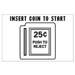 Insert Coin to Start Large Poster
