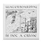 Waterboarding Tile Coaster
