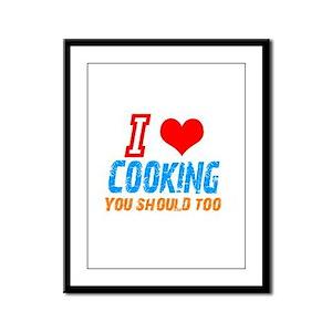I love Cooking Framed Panel Print
