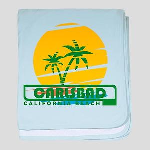 Summer carlsbad state- california baby blanket