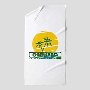 Summer carlsbad state- california Beach Towel