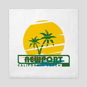 Summer newport- california Queen Duvet