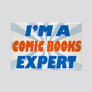im a comic books expert Rectangle Magnet