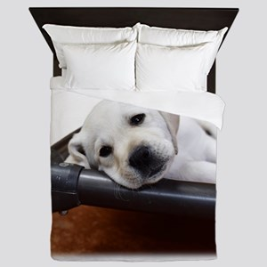 Tired and Sleepy Lab Queen Duvet