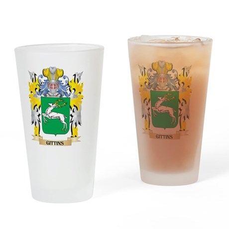 Gittins Coat of Arms - Family Crest Drinking Glass
