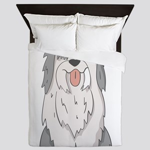 sheep dog Queen Duvet