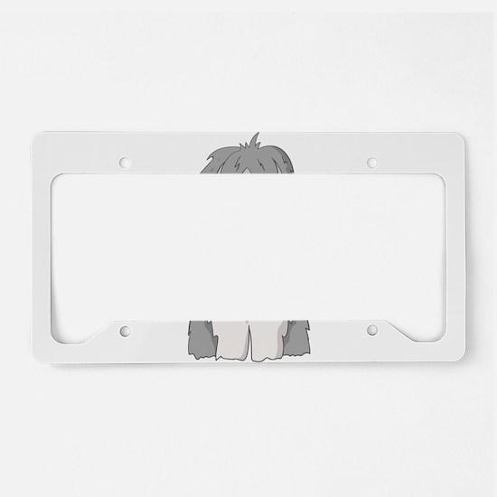 sheep dog License Plate Holder