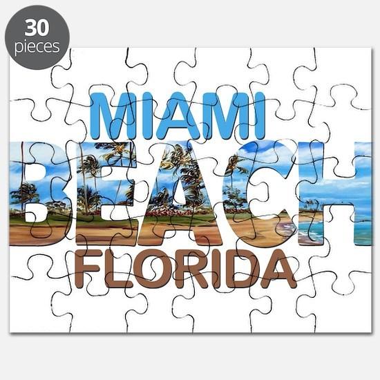 Summer miami beach- florida Puzzle