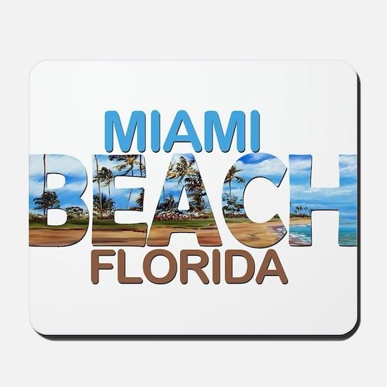 Summer miami beach- florida Mousepad
