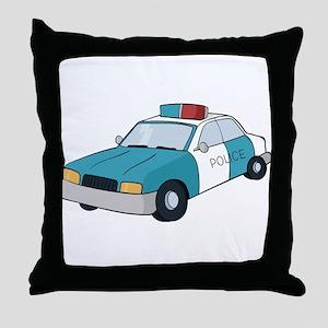 police car Throw Pillow