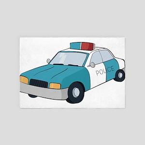 police car 4' x 6' Rug