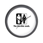 The Horrible Truth Wall Clock