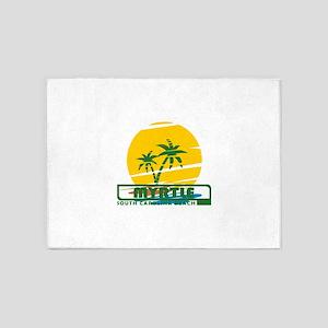Summer myrtle beach- south carolina 5'x7'Area Rug