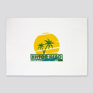 Summer hilton head- south carolina 5'x7'Area Rug