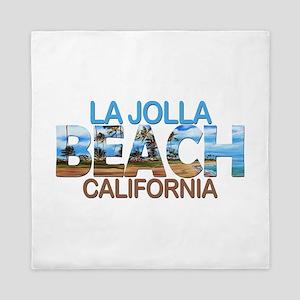 Summer la jolla shores- california Queen Duvet