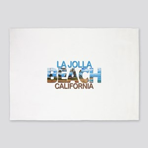 Summer la jolla shores- california 5'x7'Area Rug