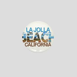 Summer la jolla shores- california Mini Button