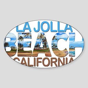 Summer la jolla shores- california Sticker