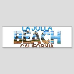 Summer la jolla shores- california Bumper Sticker
