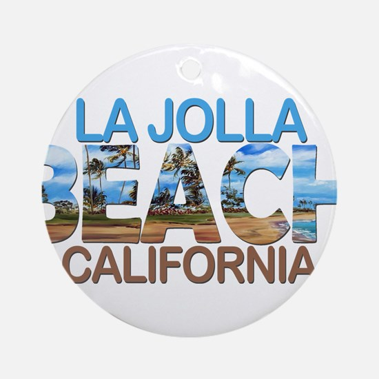 Summer la jolla shores- california Round Ornament