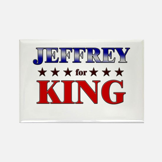 JEFFREY for king Rectangle Magnet