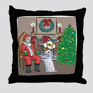 What A Westie Wants For Christmas Throw Pillow