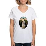 Mona Lisa / Lab (y) Women's V-Neck T-Shirt