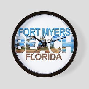 Summer fort myers- florida Wall Clock