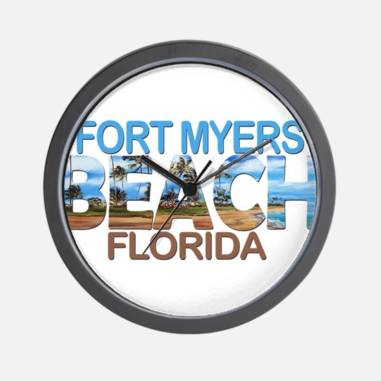 Summer fort myers- florida Wall Clock