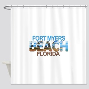 Summer fort myers- florida Shower Curtain